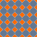 Seamless rhomb pattern with 3d effect