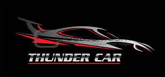 car. thunder car. car illustration