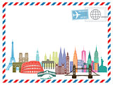 Airmail letter Travel