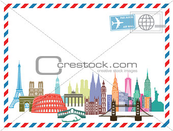 Airmail letter Travel