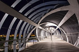 Modern bridge in madrid
