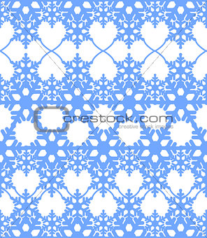 Blue seamless abstract winter background