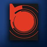 Vector retro  bauhaus  style and de stijl  style brochure  booklet cover design templates collection A4