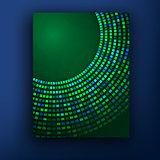 Vector green brochure design set