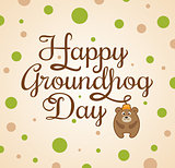 Card for Groundhog Day