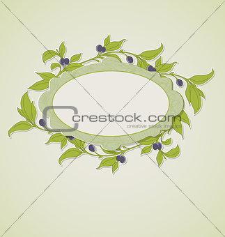 Olive branches and label