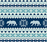 Seamless knitted pattern with bears