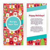 Flyer Template of Happy New Year Objects and Elements