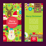 Flyer Template of Merry Christmas Objects and Elements