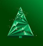 Green abstract Christmas Tree