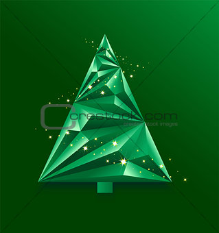 Green abstract Christmas Tree