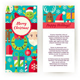 Vector Flyer Template of Merry Christmas Objects and Elements