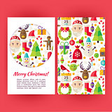 Vector Merry Christmas Banners Set Template