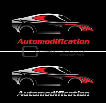 car. Elegant car illustration