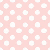 Hand drawn seamless pink dot texture