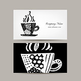 Business card template, coffee cup design