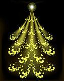 Abstract Christmas tree. EPS10 vector illustration