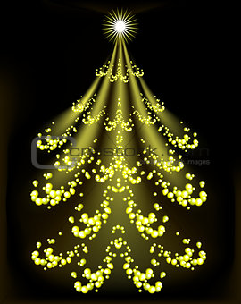 Abstract Christmas tree. EPS10 vector illustration