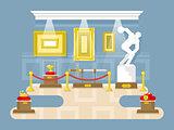 Museum flat design