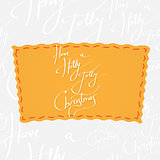 Holiday greetings lettering