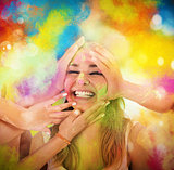 Play with colored powders