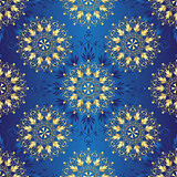 Seamless dark blue vintage pattern