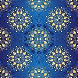 Seamless dark blue vintage pattern