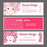 Banner template, beautiful female face