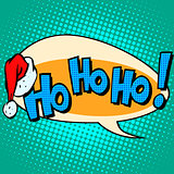 hohoho Santa Claus good laugh comic bubble text