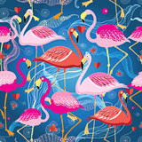 different pattern of flamingos