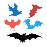 Graphic set of bats