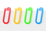 Colourful Plastic Paper Clips