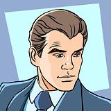 Man businessman retro style