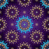 Seamless Dark violet Vintage Pattern