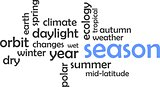word cloud - season