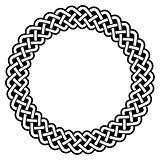 Celtic round frame, border pattern - vector