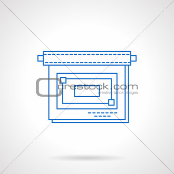 Business presentation flat blue line vector icon