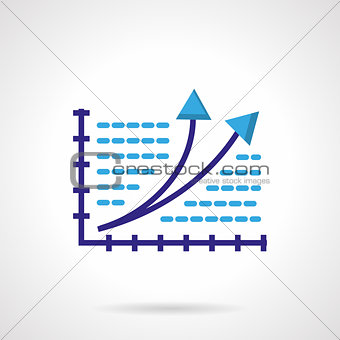 Growth chart color vector icon