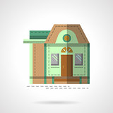 A house flat color vector icon