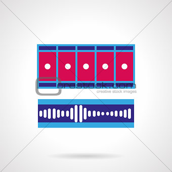 Blue and pink video processing vector icon