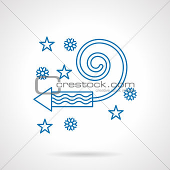 Abstract blue line fireworks vector icon