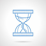 Flat blue line hourglass vector icon