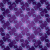 Seamless dark violet christmas pattern