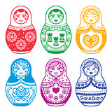 Matryoshka, Russian doll vector design
