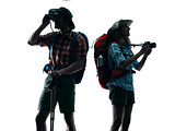 couple trekker trekking nature Photographing