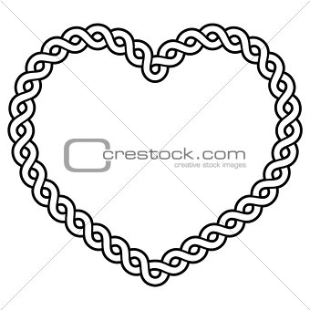 Celtic pattern heart shape - love concept for St Patrick's Day, Valentines