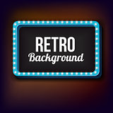 Night retro background with lights