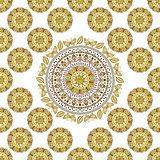 Seamless white vintage pattern
