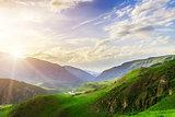 mountains landscape in Kazbeki region