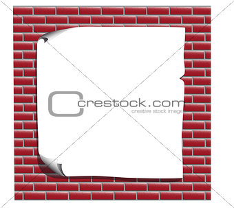 list for advertising red brick wall